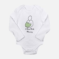 ridewithmommygreen.jpg Long Sleeve Infant Bodysuit