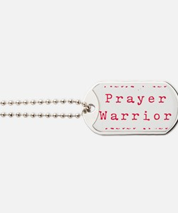 PrayerWarriorred.png Dog Tags