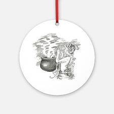 ladycauldron.png Ornament (Round)