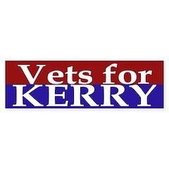 Vets for Kerry (Bumper Sticker)