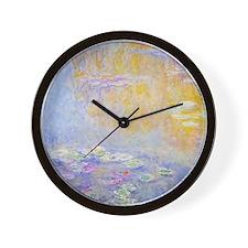 Monet Water Lilies 7 Wall Clock