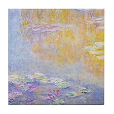 Monet Water Lilies 7 Tile Coaster