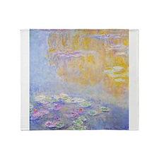Monet Water Lilies 7 Throw Blanket