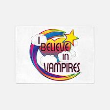 I Believe In Vampires Cute Believer Design 5'x7'Ar