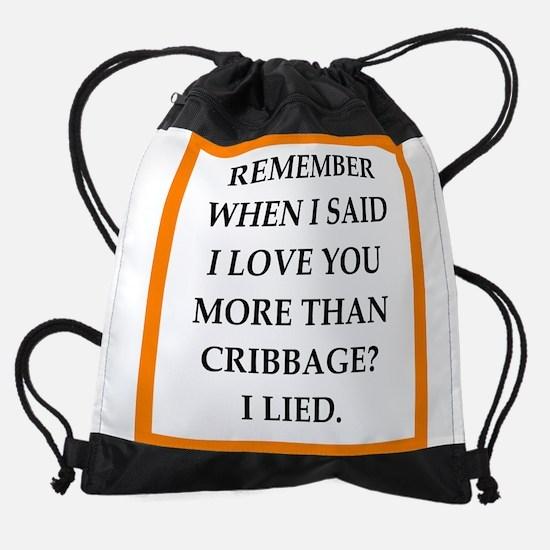 cribbage Drawstring Bag