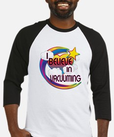 I Believe In Vacuuming Cute Believer Design Baseba