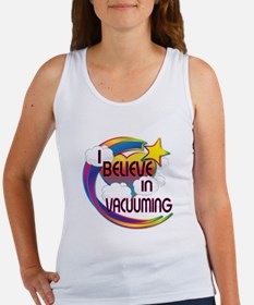 I Believe In Vacuuming Cute Believer Design Women'