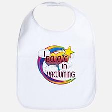 I Believe In Vacuuming Cute Believer Design Bib