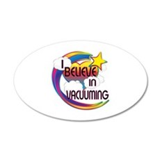 I Believe In Vacuuming Cute Believer Design Wall Decal