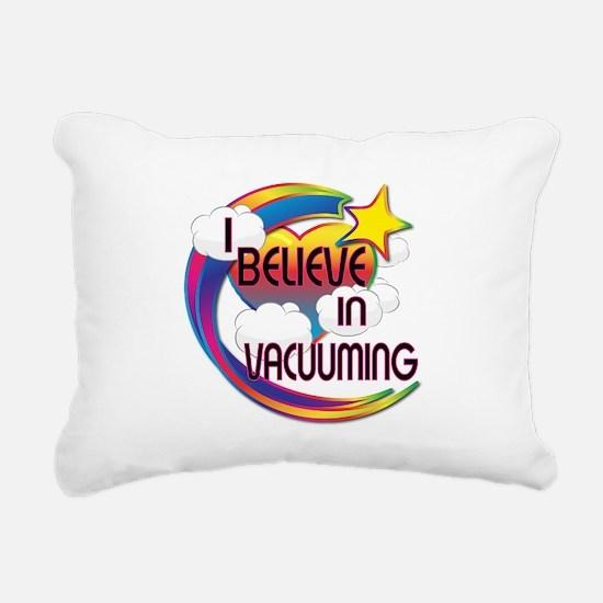 I Believe In Vacuuming Cute Believer Design Rectan