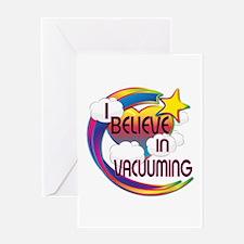 I Believe In Vacuuming Cute Believer Design Greeti