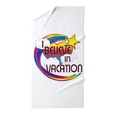 I Believe In Vacation Cute Believer Design Beach T