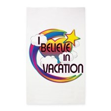 I Believe In Vacation Cute Believer Design 3'x5' A