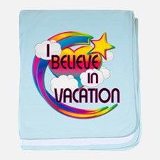 I Believe In Vacation Cute Believer Design baby bl
