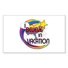I Believe In Vacation Cute Believer Design Decal