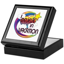 I Believe In Vacation Cute Believer Design Keepsak