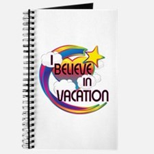 I Believe In Vacation Cute Believer Design Journal