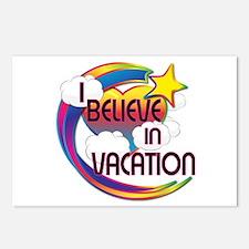 I Believe In Vacation Cute Believer Design Postcar