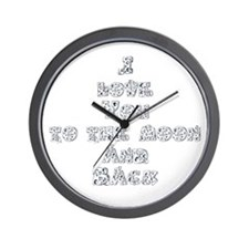 I love you to the moon and back Wall Clock