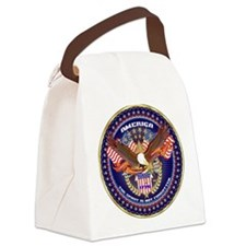 American Patriotic Canvas Lunch Bag