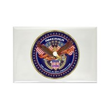 American Patriotic Rectangle Magnet