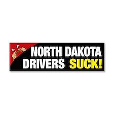 North Dakota Drivers Suck Car Magnet 10 x 3