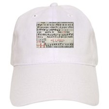 Music Manuscript Baseball Baseball Cap