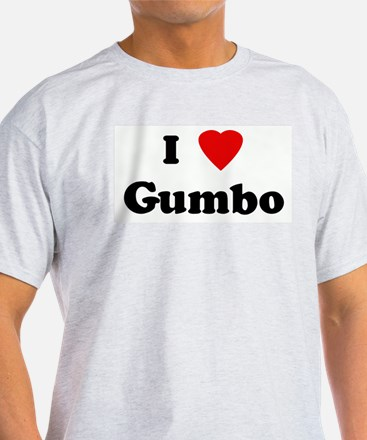 I Love Gumbo Ash Grey T-Shirt