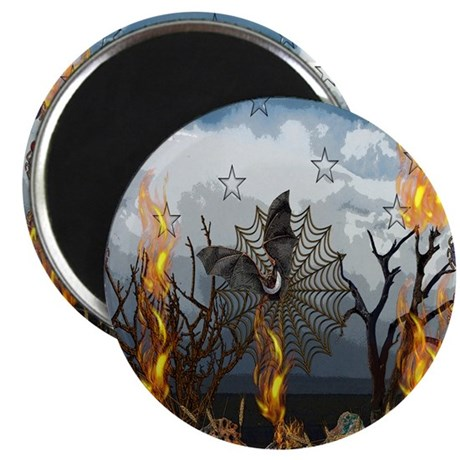 Fantasy Of Bat and Fire Magnet