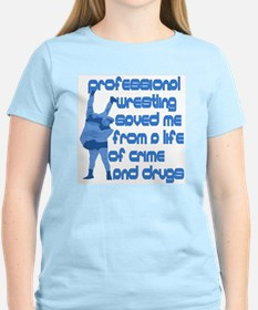 Professional Wrestling Saved Me (Women's Pink)
