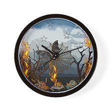 Fantasy Of Bat and Fire Wall Clock