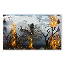 Fantasy Of Bat and Fire Decal
