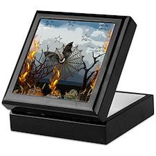 Fantasy Of Bat and Fire Keepsake Box