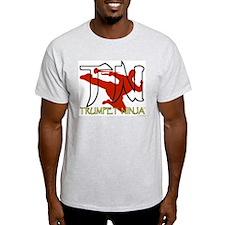 Trumpet Ninja Ash Grey T-Shirt