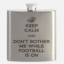 Keep Calm Football Flask