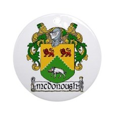 McDonough Coat of Arms Ornament (Round)