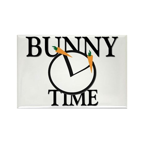 Bunny Time Rectangle Magnet (100 pack)
