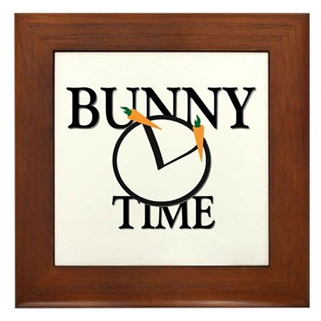 Bunny Time Framed Tile