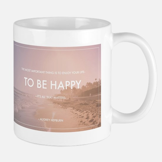 Audrey Hepburn - Happy Quote Mugs
