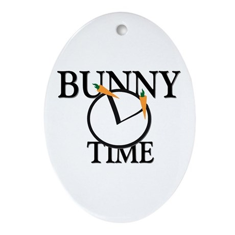Bunny Time Oval Ornament