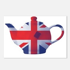 Union Jack Flag Teapot Ar Postcards (Package of 8)