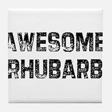 Awesome Rhubarb Tile Coaster