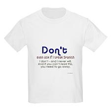 NoSpanish Kids T-Shirt