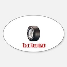 Hammered Racing Tires Oval Decal