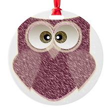 Cute Pink Owl Art Ornament