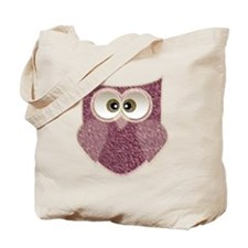 Cute Pink Owl Art Tote Bag
