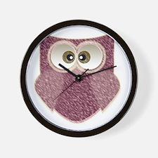 Cute Pink Owl Art Wall Clock