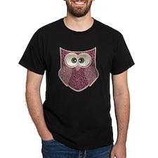 Cute Pink Owl Art T-Shirt