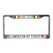 Born Irish License Plate Frame