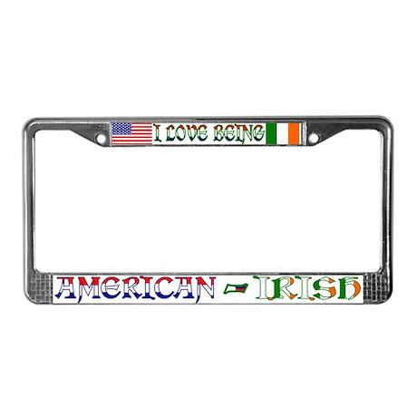 American-Irish License Plate Frame